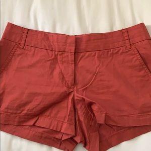 JCrew dark red shorts